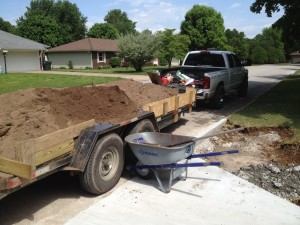 Trailer load of dirt